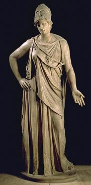 Statue: Peaceble Athena (Mattei) of The Louvre French Museum